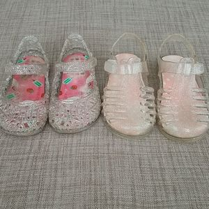 Two Toddler Pairs Jelly Sandals